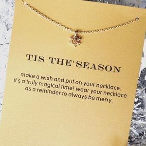SALE! Fall/Winter Fav! Snowflake Necklace WithCard